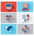 United States of America Independence Day icon set vector image vector image