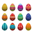 Easter eggs flat syle icons isolated on vector image
