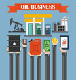 oil business concept design flat with hands vector image