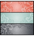 Banners with floral pattern in retro style vector image