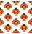 thanksgiving turkey pattern vector image