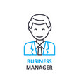 business manager concept outline icon linear vector image