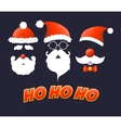 Santa hat moustache and beard vector image