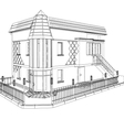 3D construction of building vector image