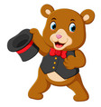 a big circus bear uses the best costume vector image vector image