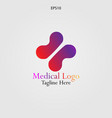 abstract cross logo for medical and pharmaceutical vector image vector image