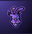 angry head mascot logo rabbit vector image