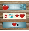 Banners Set of Three Abstract Background With vector image vector image