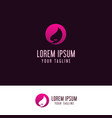 beauty woman logo design concept template vector image vector image
