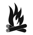 bonfire icon simple style vector image