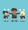 business woman conflict or arguing coworker in off vector image vector image