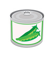 Canned food peas vector image vector image