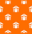 cat house pattern seamless vector image vector image