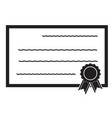 certificate icon on white background flat style vector image