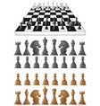 chessboard and different chess pieces vector image vector image