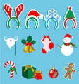 Christmas accessory set vector image