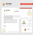 christmas balls business letterhead envelope and vector image vector image