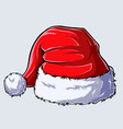 christmas santa claus hat on white background vector image