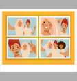 collage photo girlfriends selfie