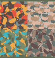 colorful america urban camouflage set usa vector image vector image