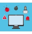 computer cyber security system design vector image vector image