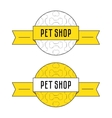 Concept for pet shop vector image vector image