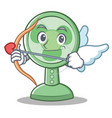 cupid fan character cartoon style vector image