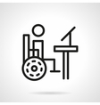 Disability distance education line icon