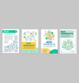 eco products brochure template layout vector image vector image