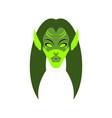 elf female face green magic woman berserk lady vector image vector image