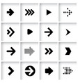 flat design arrow icon set vector image vector image