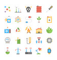 flat icons of energy and power vector image