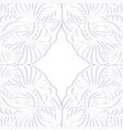 floral paper frame vector image vector image