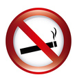 forbidden smoking design vector image