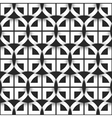 Geometric seamless pattern of black and white vector image vector image