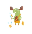 Green Moose Wearing Uellow Pants With Suspender vector image vector image
