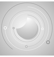 Grey technology background vector image vector image