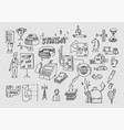 hand draw doodle elements business finance vector image vector image