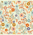 handdrawn ethnic floral seamless pattern vector image