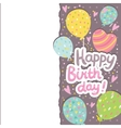 Happy Birthday card background with balloons vector image vector image