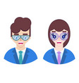 happy business people vector image vector image