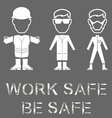 Health and Safety Message vector image vector image