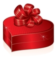 Heart Shaped Gift Box Picture vector image vector image