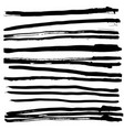horizontal stripped brush strokes ready to print vector image vector image