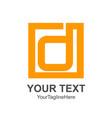 initial letter d logo design template element vector image