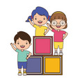 kids cubes zone vector image vector image