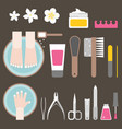 manicure and pedicure flat design vector image vector image