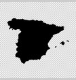 Map spain isolated black on