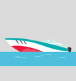 modern motorboat ship at sea transport vector image