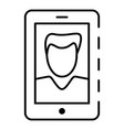 modern selfie boy icon outline style vector image